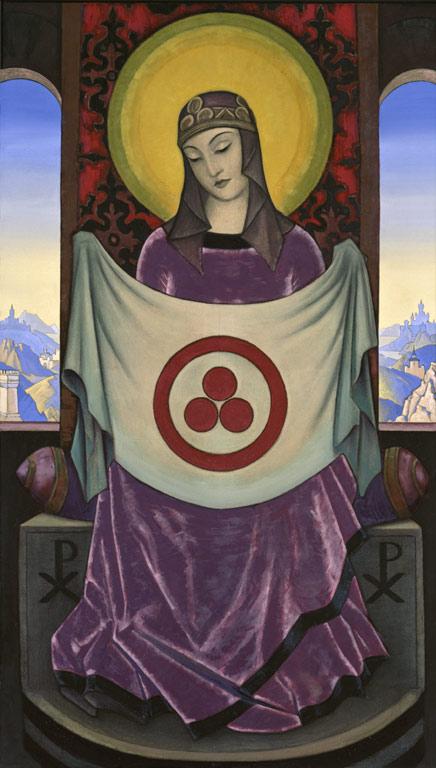 Н.К. Рерих. Мадонна  Орифламма. 1932
